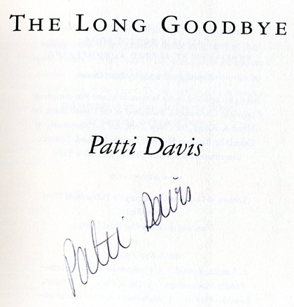 Book signed by Patti Davis